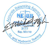 Accurate Balancing Agency NEBB seal